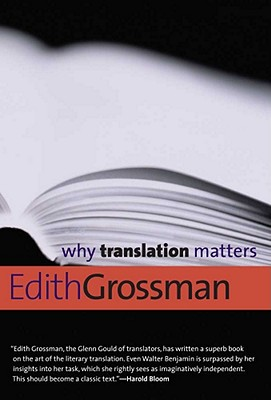 Why Translation Matters By Grossman, Edith